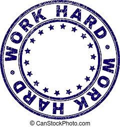 gratté, travail, timbre, dur, cachet, rond, textured