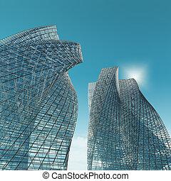 grattacieli, città