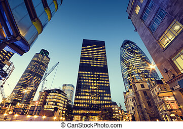 grattacieli, in, città, di, london.