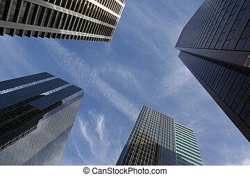 grattacielo, astratto