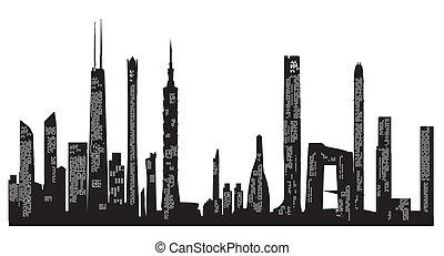 grattacielo, fondo