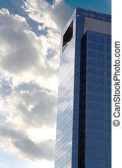 grattacielo, nuvoloso
