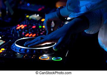 grattamento, musica, dj, concerto, miscelazione