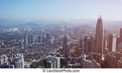 gratte-ciel, cityscape, panoramique