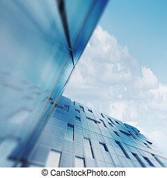 gratte-ciel, concept abstrait
