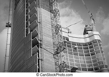 gratte-ciel, construction