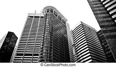 gratte-ciel, typique, urbain, cityscape