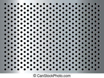 gratted metal - Silver abstract metal background with holes...