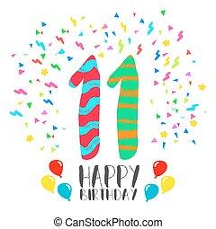 grattis 11 år 20, inbjudan, födelsedag, år, parti, kort, lycklig. Parti, stil  grattis 11 år