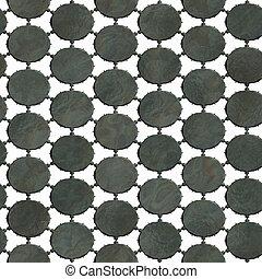 grattugiare, seamless:, metallo, struttura