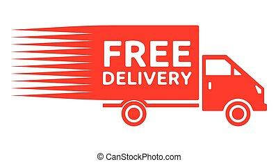 gratuite, camion, -, expédition, livraison