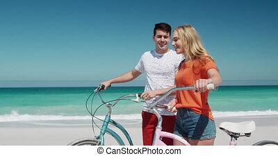 gratuite, couple, amour, ensemble, temps, apprécier, plage