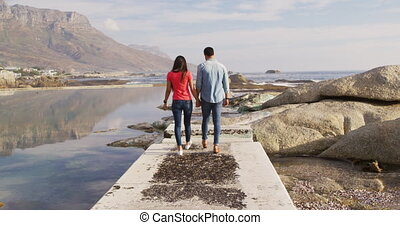 gratuite, couple, ensemble, temps, apprécier, jeune