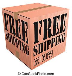 gratuite, expédition, paquet