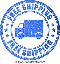 gratuite, expédition, timbre