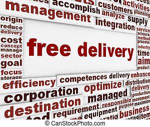 gratuite, livraison, message, fond