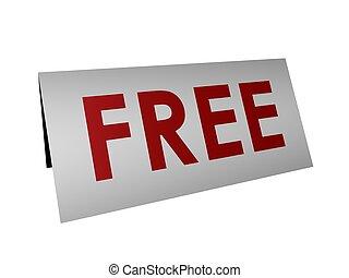 gratuite, signe
