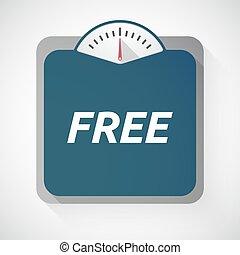 gratuite, texte, échelle, isolé, poids