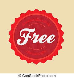 gratuite, vendange, emblème