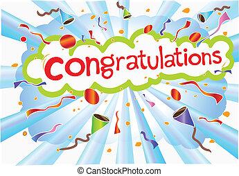 gratulationer, formulering