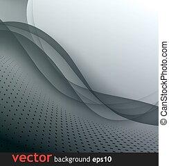 graue , abstrakt, vektor, hintergrund, welle