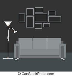 Graue , Inneneinrichtung, Wohnzimmer