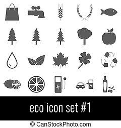 graue , satz, heiligenbilder, eco., hintergrund., weißes, 1., ikone