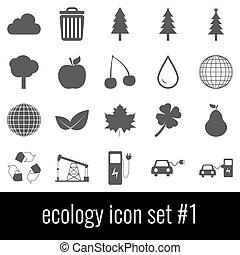 graue , satz, heiligenbilder, ecology., hintergrund., weißes, 1., ikone