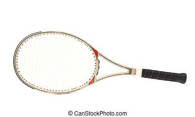 graue , tennis, racket.