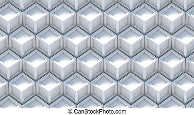 graue , weißes, hintergrund., abstrakt, 3d