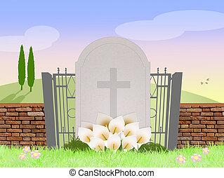 grav, kyrkogård