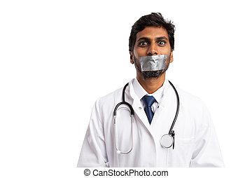 gravado, boca, doutor