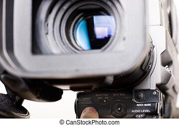 gravando, início, vídeo