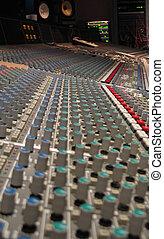 gravando, música, tábua