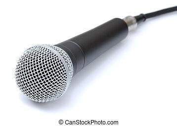 gravando, microfone