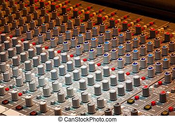 gravando, produção música, estúdio