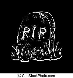 Grave flat design vector