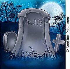 Grave Graveyard Halloween Background