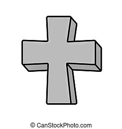 grave gray cross