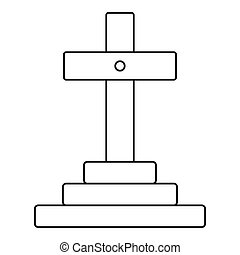 Grave icon, outline style