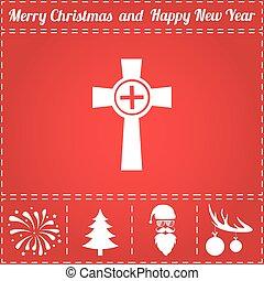 Grave Icon Vector. And bonus symbol for New Year - Santa...
