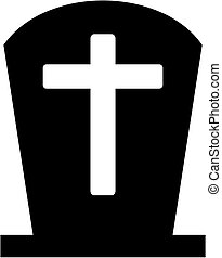 Grave icon with cross