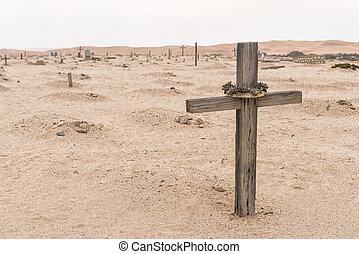 Grave in the historic Herero cemetery in Swakopmund