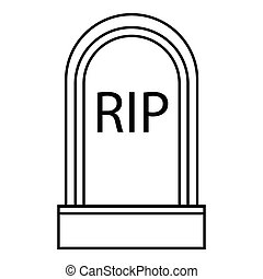 Grave RIP icon, outline style