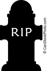Grave rip vector icon isolated on white background