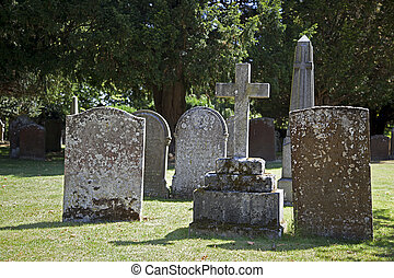 Grave yard - Old gravestones in a chrch yard
