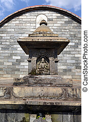 Graved statue of God Shiva