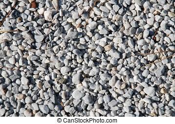 Gravel background - Background image of fine gravel on a...