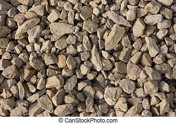 gravel background.