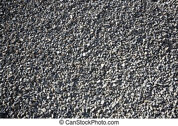 gravel closeup background gray color